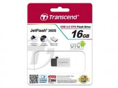 فلش مموری ترنسند Transcend 16GB JetFlash JF380S USB 2.0 OTG Flash Drive