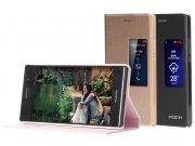 خرید عمده کیف چرمی گوشی مدل01 Huawei Ascend P7 مارک Rock