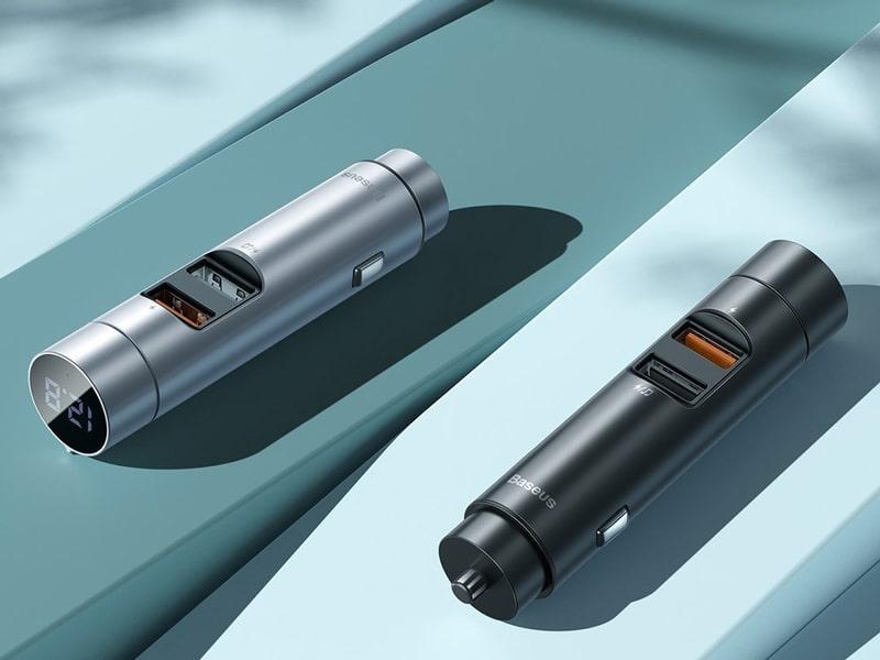 خرید شارژر فندکی و پخش کننده بلوتوث بیسوس
