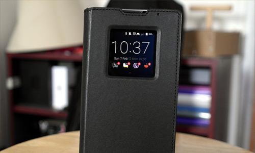 کیف اصلی چرمی بلک بری Leather Smart Flip Cover BlackBerry DTEK50