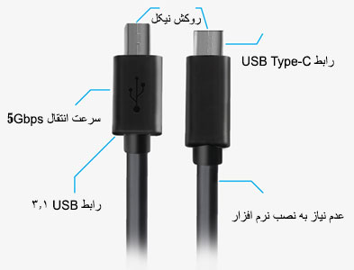 کابل پرینتر پرومیت Promate uniLink-CB USB 3.1 Type-C to USB-B Printer Cable