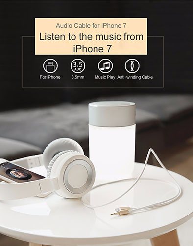 کابل صدا لایتنینگ راک Rock AUX Audio Cable