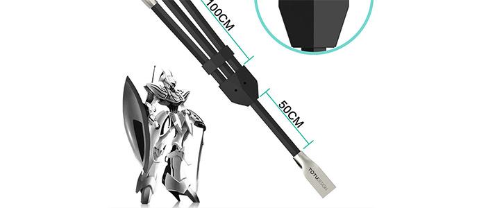 کابل شارژ و انتقال داده 3 سر Totu Design 3 in 1 Cable