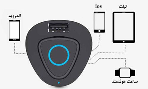 شارژر فندکی و هندزفری بلوتوث راک Rock Muca Car Charger And Bluetooth Earphone