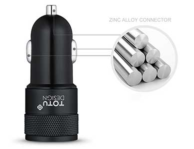 شارژر فندکی سریع Totu Design Dual Port Car Charger CC03