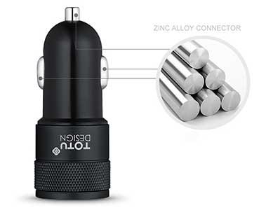 شارژر فندکی سریع Totu Design Dual Port Car Charger CC03 With 2 in 1 Cable