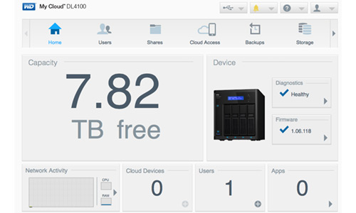هارد درایو تحت شبکه وسترن دیجیتال 24 ترابایت Western Digital NAS My Cloud DL4100 4 Bay NAS Hard Drive 24TB