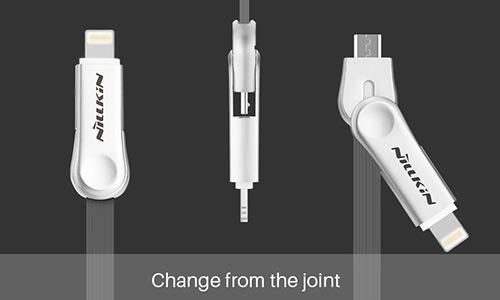 کابل دو سر یو اس بی به میکرو یو اس بی و لایتنینگ Nillkin Plus Ⅲ Cable Micro To Lightning