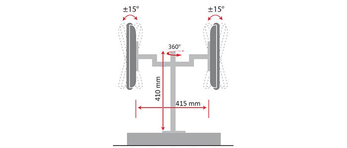 پایه رومیزی مانیتور LCD arm LD-410BD Monitor Stand
