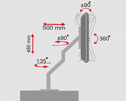 پایه رومیزی مانیتور LCD arm LDF-500sp Monitor Stand