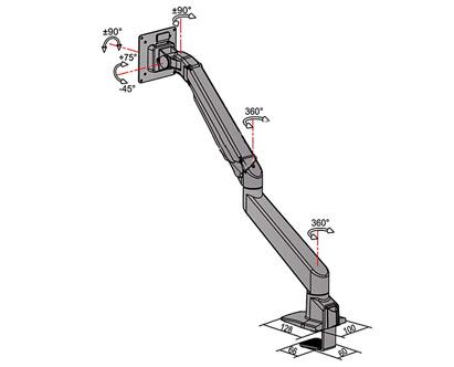 پایه رومیزی مانیتور LCD arm LDG-515 Monitor Stand