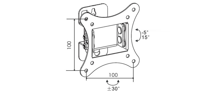 پایه دیواری مانیتور LCD arm LW-65 Monitor Stand