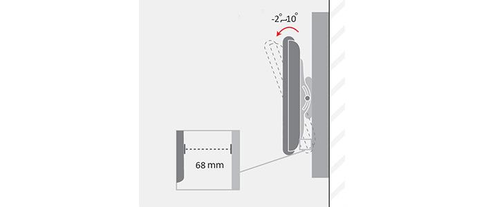 براکت دیواری متحرک تلویزیون LCDarm TW-400V TV Stand
