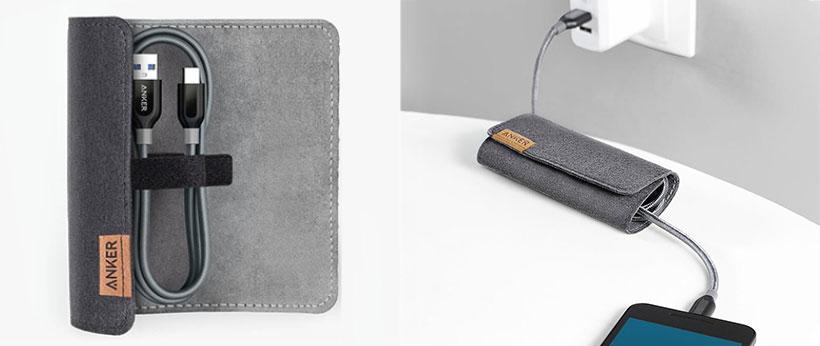 کیف محافظ برای تنظیم طول کابل شارژر انکر