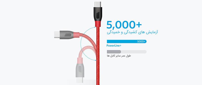 کابل شارژ انکر مقاوم در برابر کشش