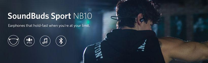 هدفون بلوتوث انکر SoundBuds Sport NB10
