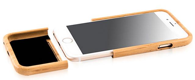 دسترسی به کلیدهای آیفون 6 در کاور چوبی