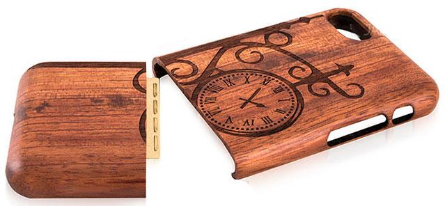 طراحی دو تکه قاب چوبی آیفون