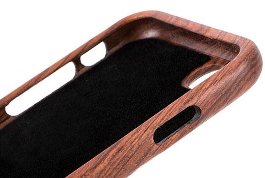 روکش مخمل داخلی محافظ چوبی آیفون 7