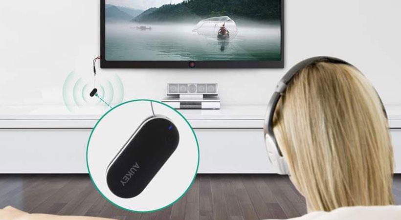 دریافت کننده صوتی وایرلس آکی Aukey Portable Wireless Stereo Audio Transmitter