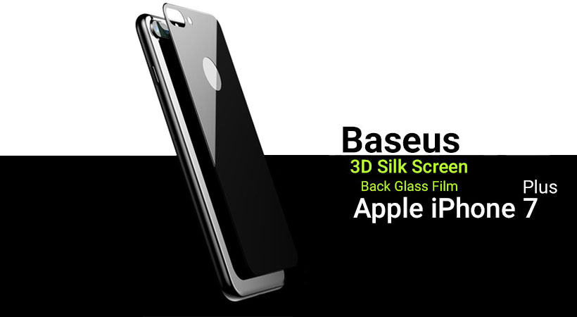 محافظ شیشه ای پشت بیسوس آیفون Baseus 3D Silk Screen Back Glass Film Apple iPhone 7 Plus