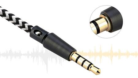 کابل aux audio cable baseus b35