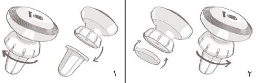 نحوه قرار دادن قرص خوشبوکننده داخل هولدر بیسوس
