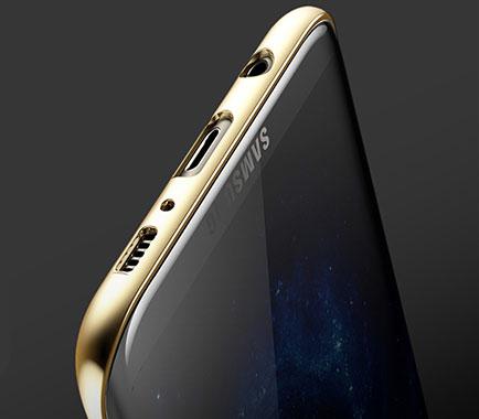 دسترسی آسان به پورت ها با قاب محافظ بیسوس سامسونگ Baseus Galaxy S8 Plus