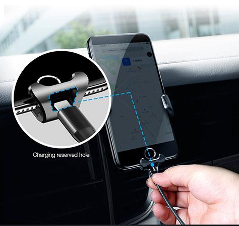شارژ راحت گوشی با وجودشیار روی نگهدارنده بیسوس