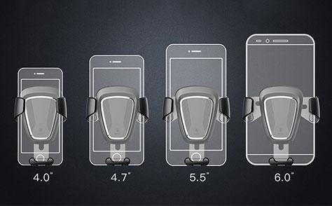 پایه داخل خودرو بیسوس سازگار با گوشی های4 تا6 اینچ