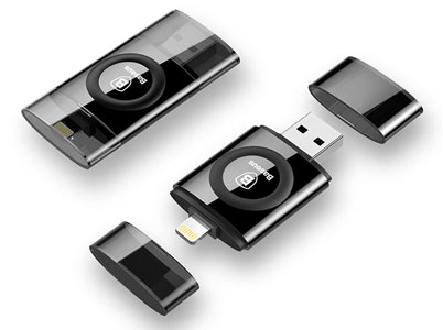 فلش بیسوس با دو کانکتور لایتنینگ و USB