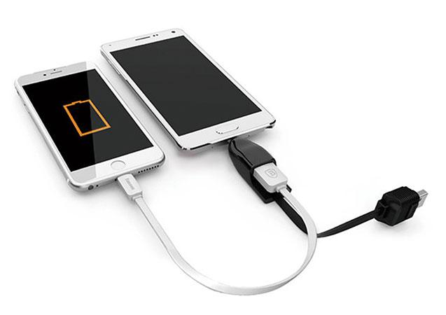 مبدل میکرو یو اس بی به یو اس بی بیسوس Baseus Player Series OTG Date Micro USB Cable