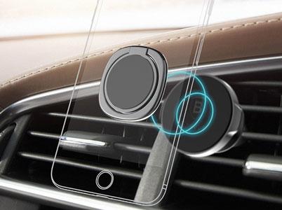 حلقه نگهدارنده گوشی بیسوس با پشتیبانی ازهلدرهای مگنتی