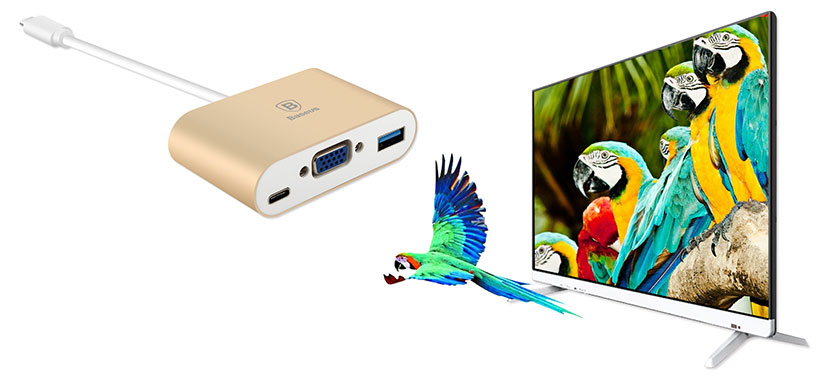 مبدل بیسوس دارای پورت HDMI برای نمایش تصویر
