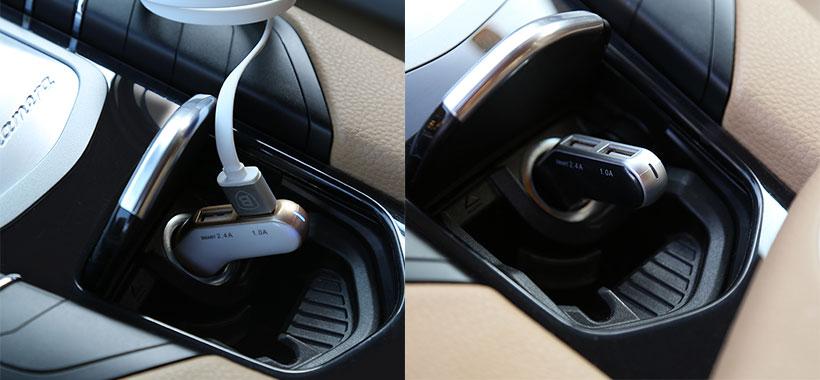 قابلیت شارژ همزمان دو دستگاه با شارژر فندکی بیسوس
