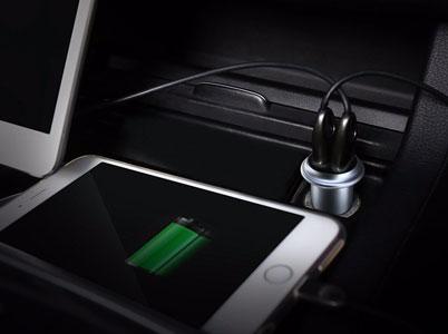 شارژر فندکی بیسوس با دو خروجی برای شارژر همزمان دو دستگاه