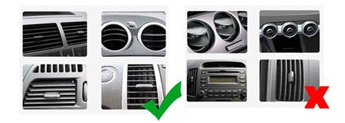 نگهدارنده گوشی بیسوس مناسب نصب روی پنجره تهویه ماشین