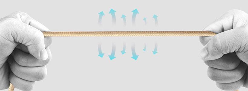 کابل نایلونی بیسوس مقاوم در برابر کشیدگی