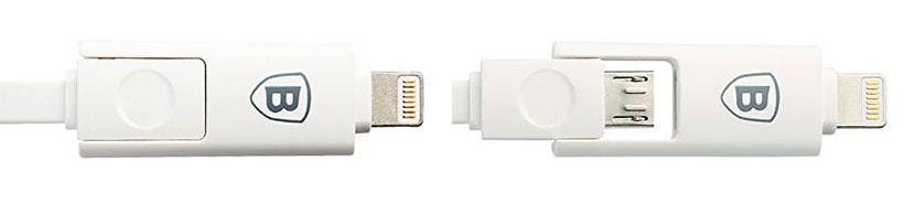 کانکتورهای Lightning و Micro USB کابل بیسوس