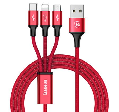 کابل سه سر بیسوس Baseus Rapid Series 3 In 1 Cable
