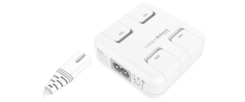 شارژر هوکو دارای 4 پورت شارژ USB