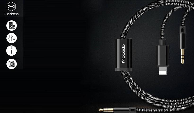 کابل صدا دو سر لایتنینگ به 3.5mm