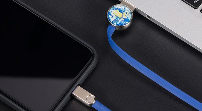 کابل لایتنینگ راک Rockspace Orb Series Lightning Charge & Sync Flat Cable