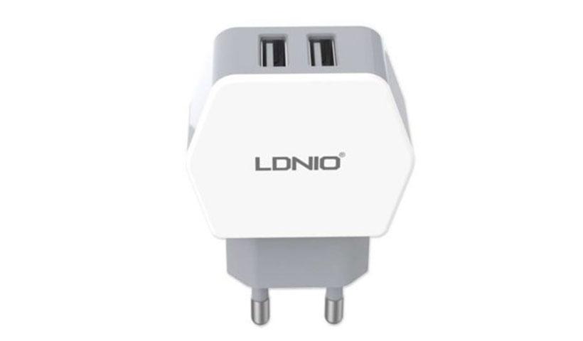 شارژر دیواری 2.1 آمپر LDNIO با دو پورت USB مدل DL-AC61