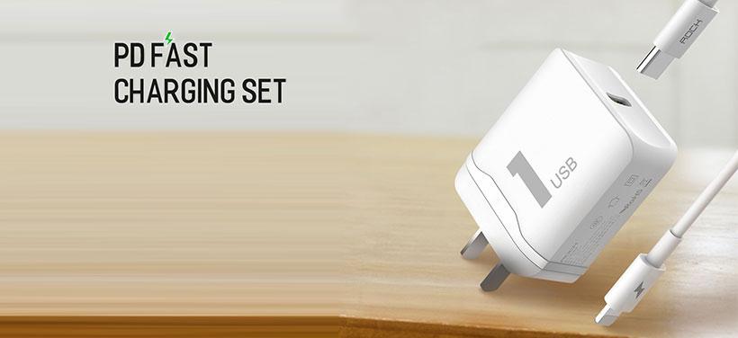آداپتور شارژر محصولات اپل راک Rock PD Fast Charging Set