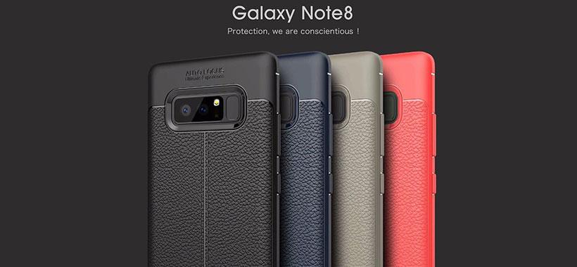 قاب ژله ای طرح چرم سامسونگ Galaxy Note 8