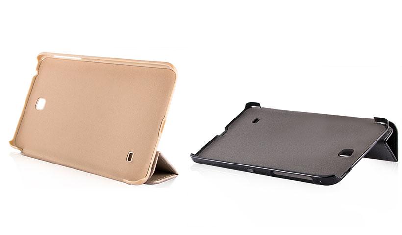 کیف هوشمند چرمی بلک برای تبلت سامسونگ گلکسی Tab 4 7.0