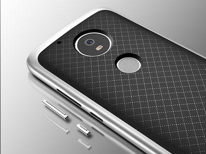 پوشش فلزی برجسته روی کلیدهای گوشی موتو جی 5