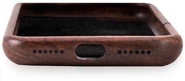 دسترسی راحت به پورت ها روی قاب چوبی iphone 7