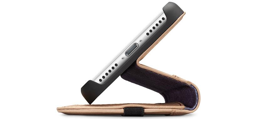 کیف محافظ چرمی آیفون 7 پلاس با قابلیت تبدیل به استند